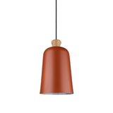 Bell Shaped Pendant Lamp in Red Brown - The Lighting Club - Perth - Lighting