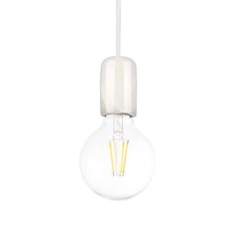 White Marble Pendant Lamp - Thin Holder - The Lighting Club - Perth - Lighting