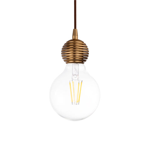 Olive Single Light Pendant in Champagne - The Lighting Club - Perth - Lighting