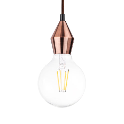 Rhombus Single Light Pendant in Red Bronze - The Lighting Club - Perth - Lighting