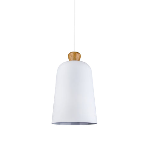 Bell Shaped Pendant Lamp in White - The Lighting Club - Perth - Lighting