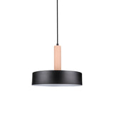 Macarons Round Pendant Lamp - Pink Holder & Black Shade - The Lighting Club - Perth - Lighting