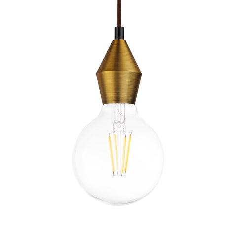 Rhombus Single Light Pendant in Gold - The Lighting Club - Perth - Lighting