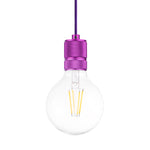 Classic Single Light Pendant in Purple - The Lighting Club - Perth - Lighting