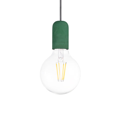 Concrete Single Light Pendant in Green - The Lighting Club - Perth - Lighting