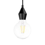 Rhombus Single Light Pendant in Matt Black - The Lighting Club - Perth - Lighting