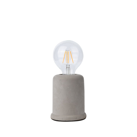 Edison Table Lamp in Concrete Rounded Base - The Lighting Club - Perth - Lighting