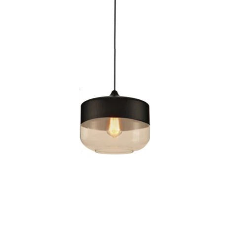 Contemporary Glass Pendant Lamp in Black - Type C - The Lighting Club - Perth - Lighting