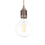 Industrial Single Light Pendant in Champagne - The Lighting Club - Perth - Lighting
