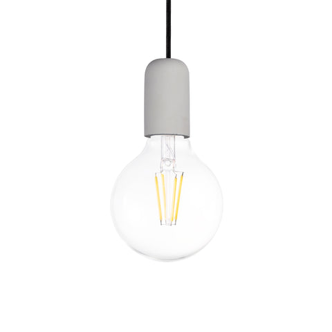 Concrete Single Light Pendant in White - The Lighting Club - Perth - Lighting