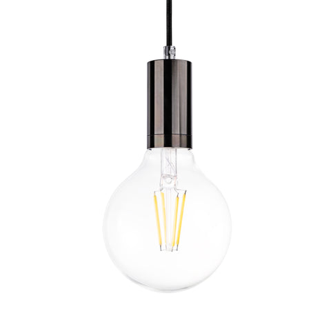 Cylinder Single Light Pendant in Shiny Brushed Nickel - The Lighting Club - Perth - Lighting