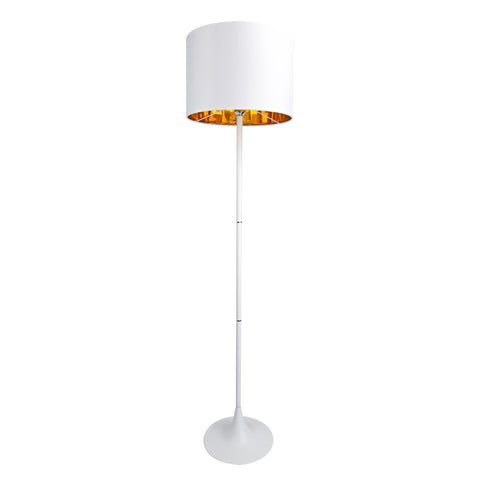 Spun Floor Lamp in White - The Lighting Club - Perth - Lighting