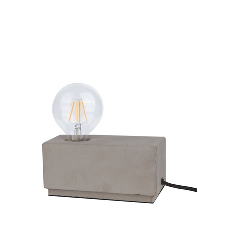 Edison Table Lamp in Concrete Cuboid - The Lighting Club - Perth - Lighting