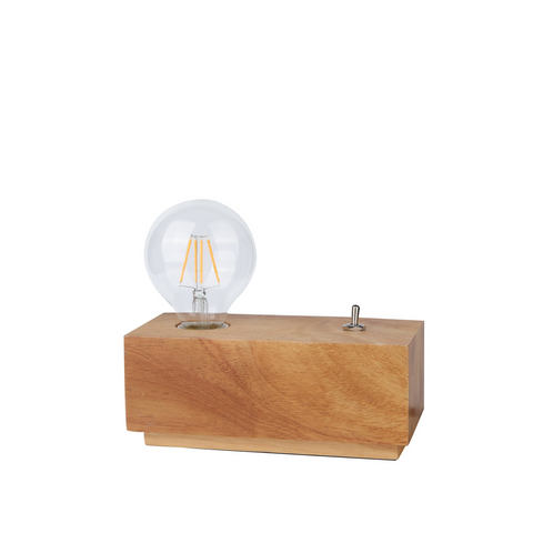 Edison Table Lamp in Wooden Cuboid - The Lighting Club - Perth - Lighting