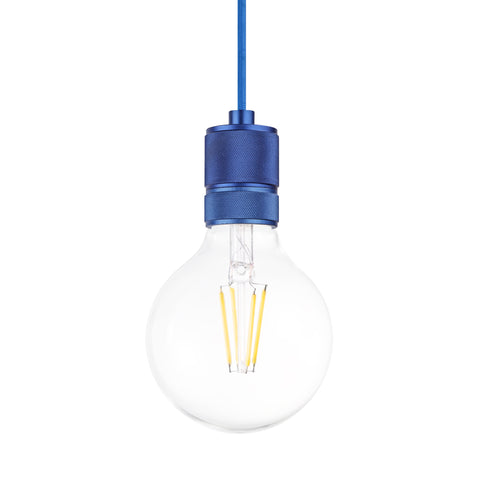 Classic Single Light Pendant in Blue - The Lighting Club - Perth - Lighting