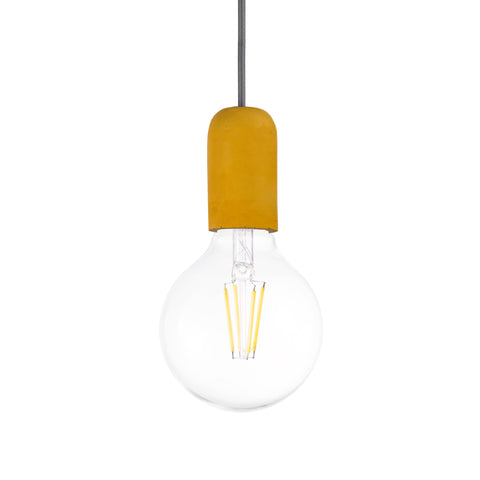 Concrete Single Light Pendant in Yellow - The Lighting Club - Perth - Lighting