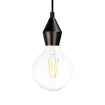 Rhombus Single Light Pendant in Pearl Black - The Lighting Club - Perth - Lighting