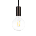 Cylinder Single Light Pendant in Pearl Black - The Lighting Club - Perth - Lighting