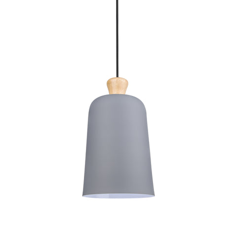 Bell Shaped Pendant Lamp in Grey - The Lighting Club - Perth - Lighting
