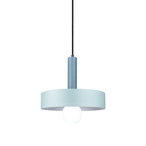 Macarons Round Pendant Lamp - Dark Blue Holder & Light Blue Shade - The Lighting Club - Perth - Lighting