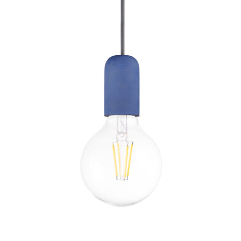 Concrete Single Light Pendant in Blue - The Lighting Club - Perth - Lighting