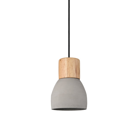 Concrete Pendant with Timber in Grey - The Lighting Club - Perth - Lighting