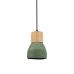 Concrete Pendant with Timber in Green - The Lighting Club - Perth - Lighting