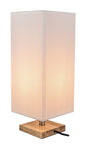 Fabric Table Lamp with Wooden Base - The Lighting Club - Perth - Lighting