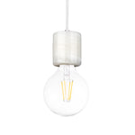 White Marble Pendant Lamp - Thick Holder - The Lighting Club - Perth - Lighting