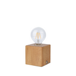 Edison Table Lamp in Wooden Cube - The Lighting Club - Perth - Lighting