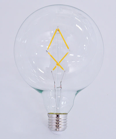 8 Watt G125 Filament LED Bulb (E27) 2700K CLEAR - The Lighting Club - Perth - Lighting