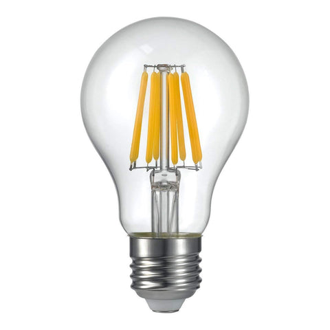 8 Watt A60 Filament LED Bulb (E27) 2700K CLEAR - The Lighting Club - Perth - Lighting
