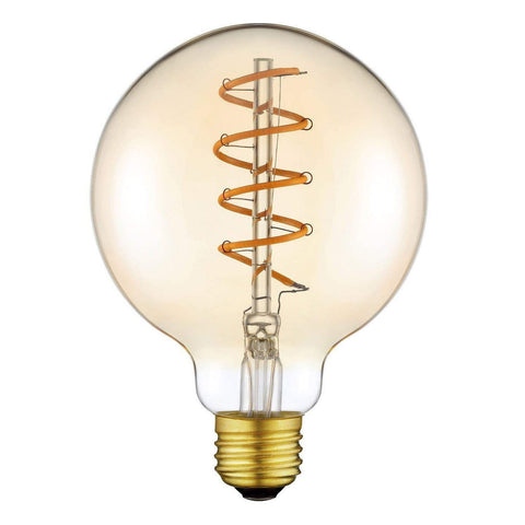 2 Watt G80 Spiral LED Bulb (E27) 2700K AMBER - The Lighting Club - Perth - Lighting