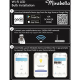 Mirabella LED Genio WiFi Dimmable E27 Bulb - Warm White - The Lighting Club - Perth - Lighting