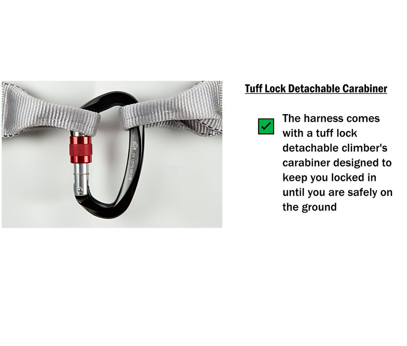 CL-130 Hi-Vis Quick Connect Full Body Fall Protection Safety Harness for Construction
