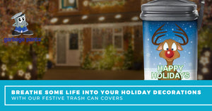 Breathe Some Life Into Your Holiday Decorations With Our Festive Trash Can Covers