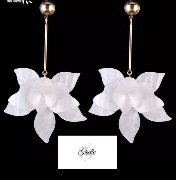 Off white earrings