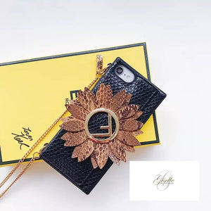 Pre order  Lux leather in style iPhone cases w/ chain