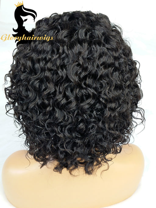 2020 Top selling 8inch short Pixie lace front wigs small wavy  transparents lace wigs