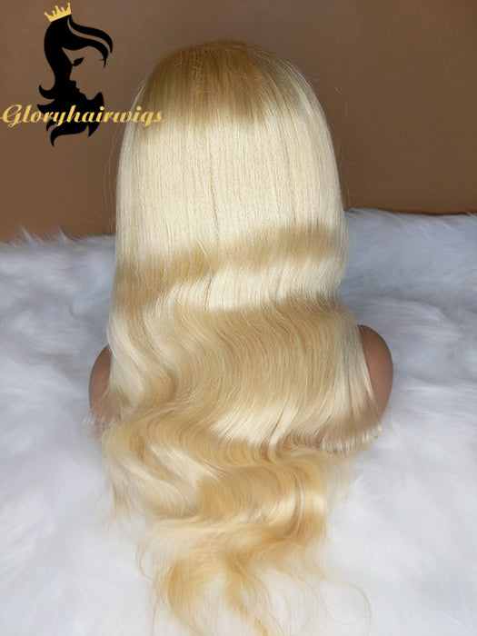 613 Blonde Wig Full lace wigs Human Hair Lace Front Wigs Body wave Pre-Plucked Hairline 150% Density Full Ends with Baby Hair - gloryhairwigs