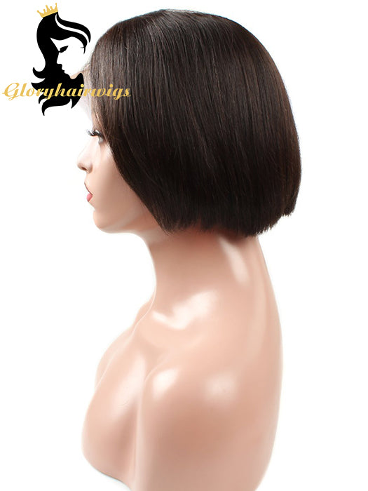 Popular Short Bob Wigs 6inch/8inch  Lace Wig With Pre-plucked for Summer season - gloryhairwigs