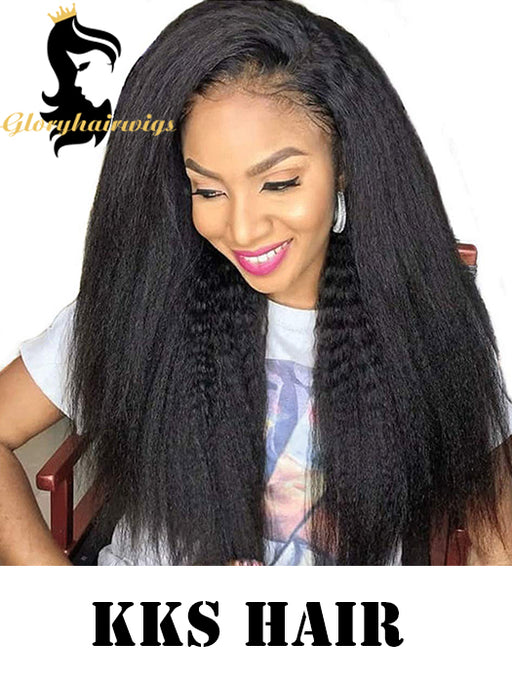 kinky straight virgin hair wig