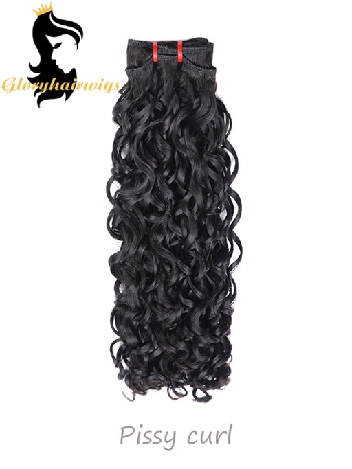 Wholesale 15A Fumi Virgin Hair Double Drawn Hairstyle Spring Curly Bouncy Curl Human Hair Bundles For Black Women Remy / Virgin Hair Weave Extension
