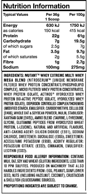 Mutant Whey Protein 5lb