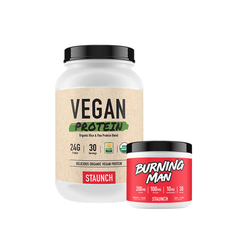 Staunch Nutrition Vegan Protein & Burning Man Bundle