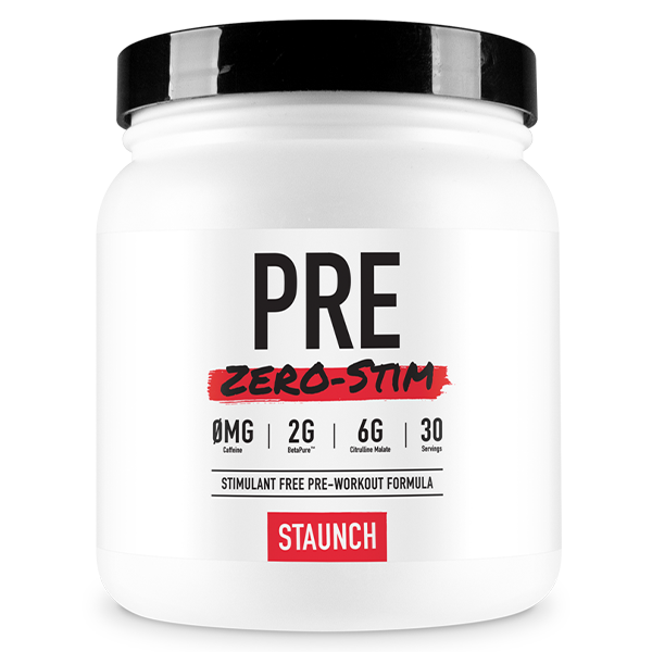 Staunch Nutrition Pre Zero-Stim Preworkout 30 Serve