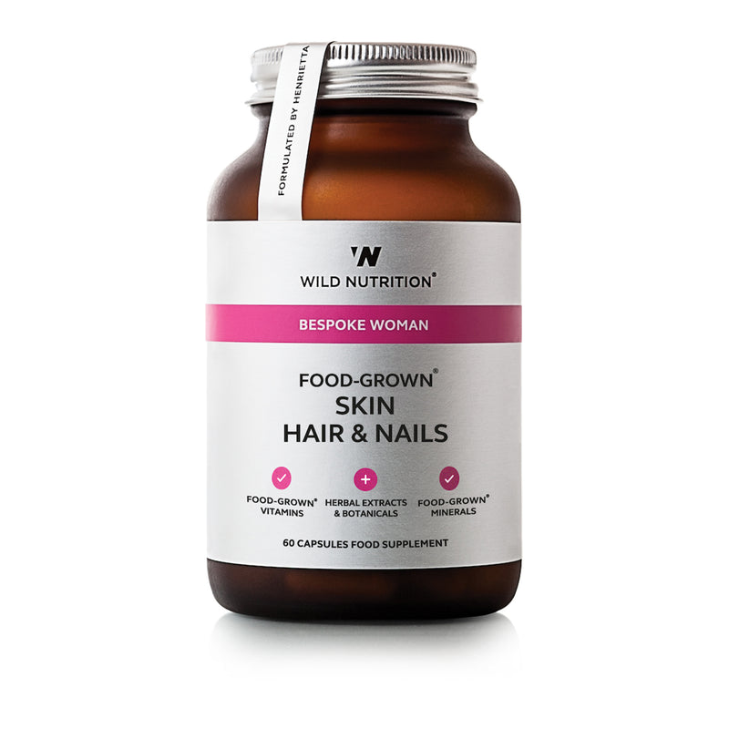 Wild Nutrition Food Grown Skin Hair & Nails 60 Caps