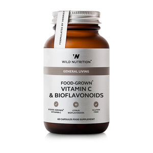 Wild Nutrition Food Grown Vitamin C & Bioflavonoids 60 Caps