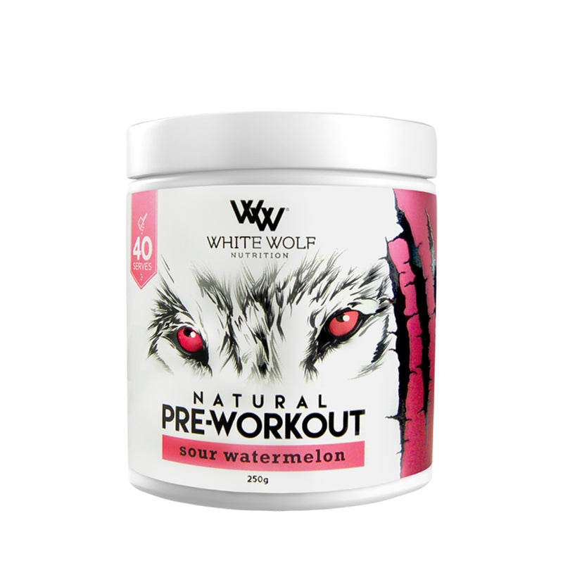 White Wolf Natural Pre Workout 40 Serve