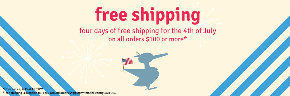 4th of July free shipping!